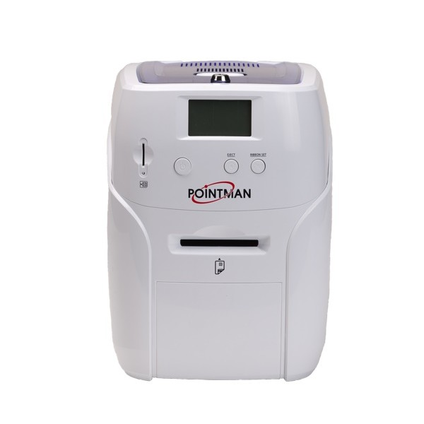 Nuvia N10 Card Printer: Single and dual-sided color printer with card-by-card-manual feeding